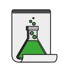 Tube test glass icon vector