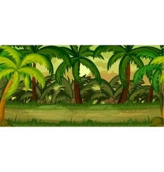 Jungles game background vector