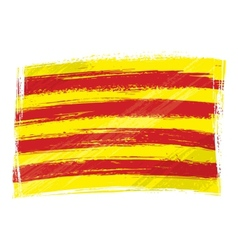 Grunge Catalonia flag vector image