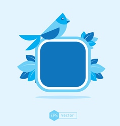 Blue Bird Sign vector image