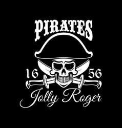 Jolly roger pirate flag or poster vector
