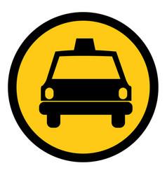symbol taxi front car icon vector image