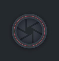 Aperture icon dark version vector