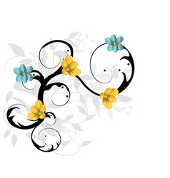 floral baclground vector image