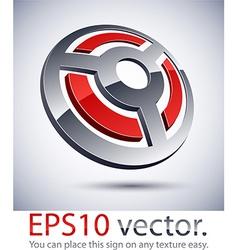 3d modern wheel logo icon vector