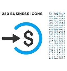 Income icon with flat set vector
