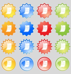 Homework icon sign big set of 16 colorful modern vector
