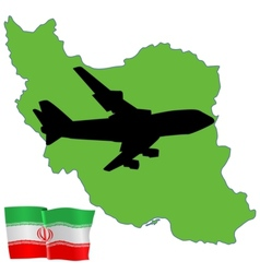 Fly me to the iran vector