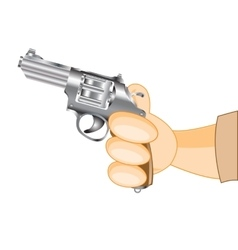 Hand with revolver vector