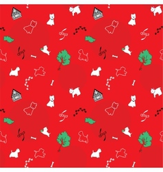 Dogs seamless pattern vector