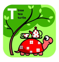 ABC tea tree turtle vector image vector image