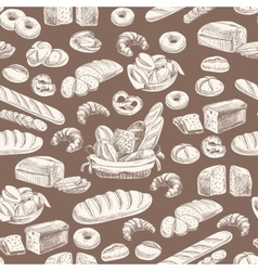 Bakery retro seamlrss pattern vector