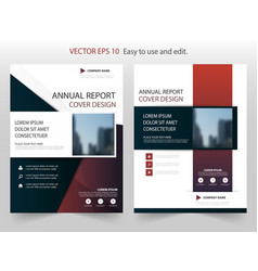 blue abstract square annual report brochure vector image vector image