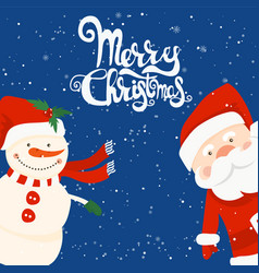 cartoon for holiday theme with santa claus and vector image