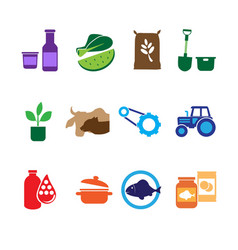 Farming food and agriculture icons vector