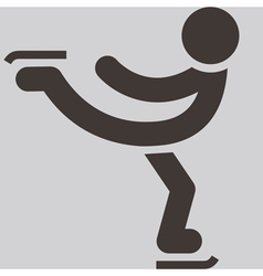 Figure skating icon vector image