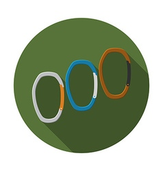 Flat design modern of carabiner icon camping vector image vector image