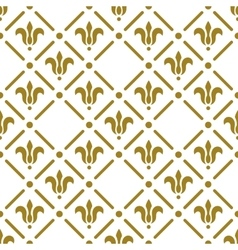 Golden flower pattern on white background vector
