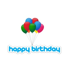 happy birthday balloons vector image vector image