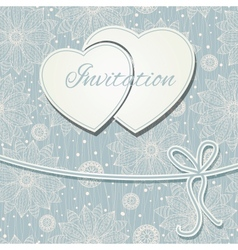 Happy valentines day and weeding card vector