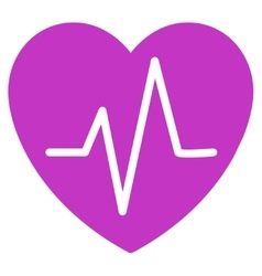 Heart ekg icon vector