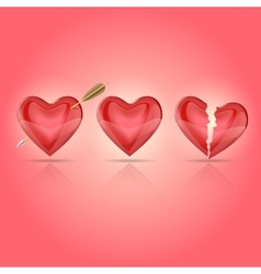 hearts 2 vector image