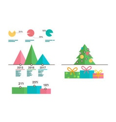 Infographics templates Christmas tree diagrams vector image