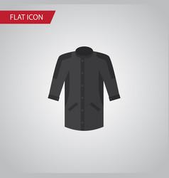 isolated kimono flat icon uniform element vector image