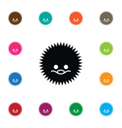 Isolated urchin icon needley element can vector