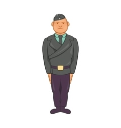 Man in a police uniform icon cartoon style vector