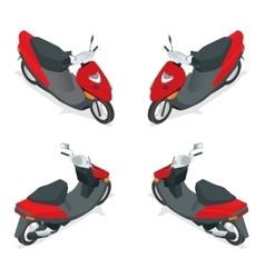 Motorcycle bike motorbike scooter flat 3d vector