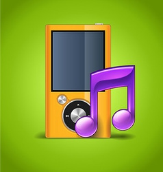 MP3 Player And Note vector image vector image
