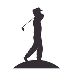 Player golf man vector