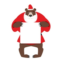 Santa bear keep clean banner with space for text vector image