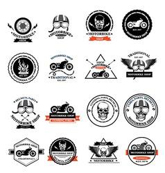 Set of labels motorbike shop vector
