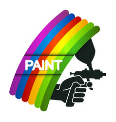 Spray for painting in hand vector