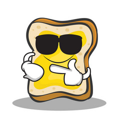 super cool bread character cartoon vector image vector image