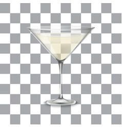 transparent glass with martini and olive vector image