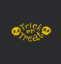 trick or treat flat emblem vector image vector image