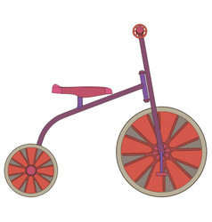 Tricycle bike bicycle icon isolated toy red ride vector