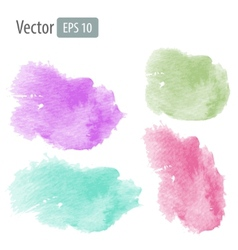 watercolor stains vector image vector image