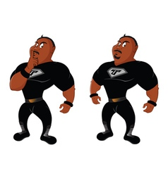 Black wrestlers vector