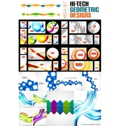 Mega collection of various abstract designs vector image