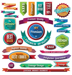 Set of retro vintage badges and labels 07 flat des vector