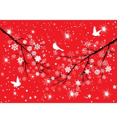 Snow birds vector