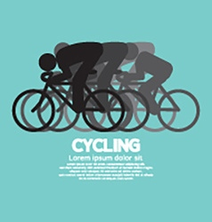Black symbol cycling people vector