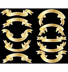 golden ribbons vector image