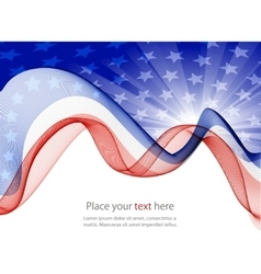 American flag abstract background of the vector