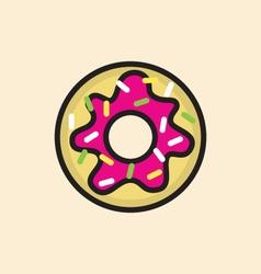 Sweet donut icon vector