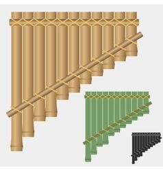 Pan flute bamboo wind musical instrument vector